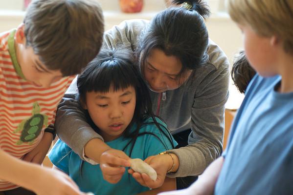 3rd Grade Mandarin Class Potsticker-Making