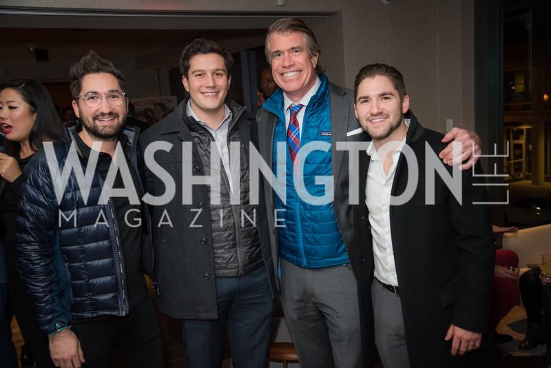 Jason Zuccari, Robbie Bracci, Scott Stewart, Jarred Zuccari, Washington Life, Tech Issue Party, One Hill South, March 4, 2019, photo by Ben Droz.