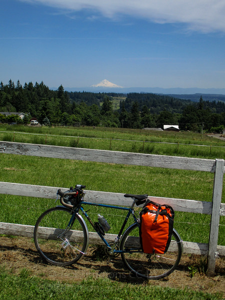 Bike selfie with Mt. Hood.