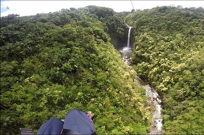 Ziplining in Hawaii Over Waterfalls
