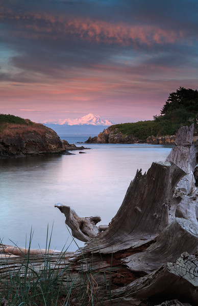 Sucia Island View of Mount Baker