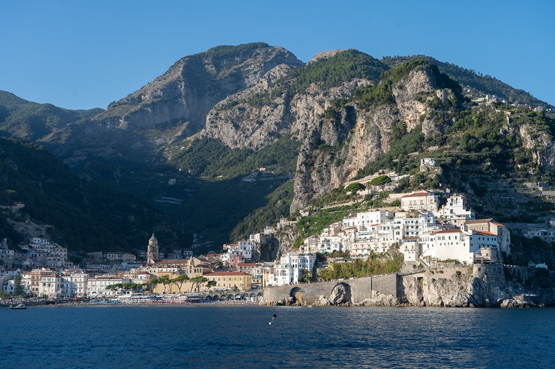 Arriving in Amalfi, Italy