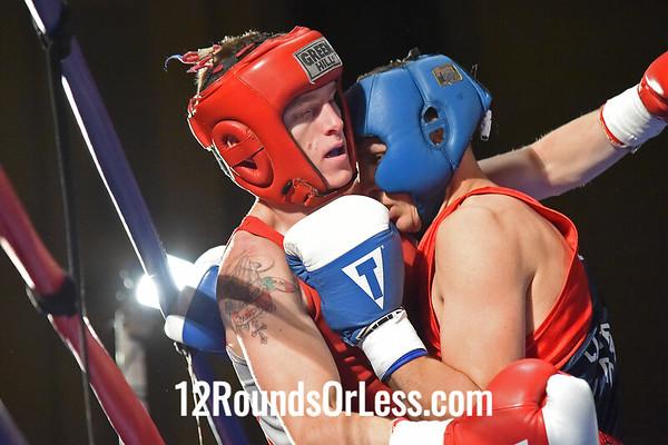 Bout #5:   Bradley Wilcox, Steel Town B.C., Ontario, Canada   vs.   Elhan Nevzadi, Iron Fist B.C., Cleveland, OH,   132 Lbs.