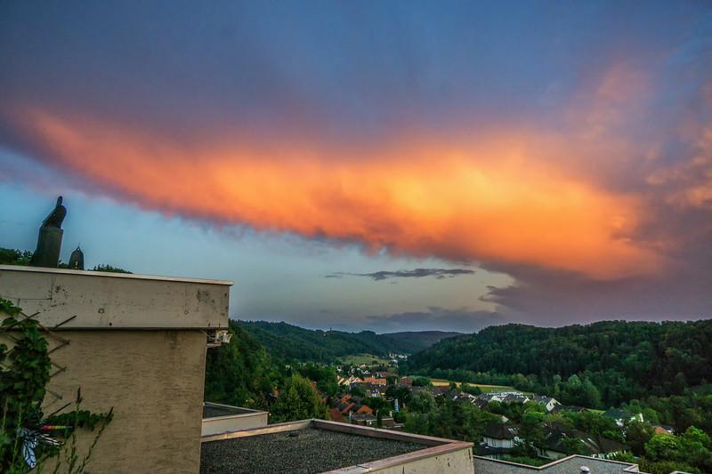 Ambosswolke im Abendlicht