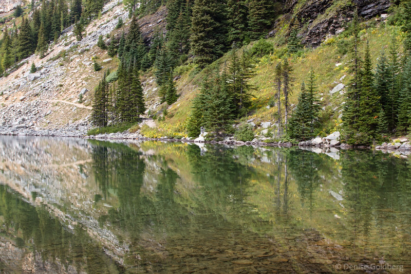 mirrored reflections, Lake Agnes