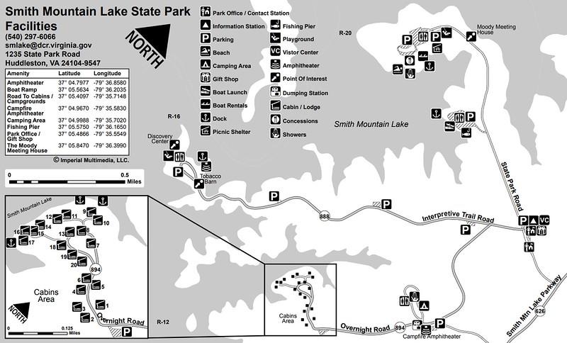 Smith Mountain Lake State Park (Facilities Map)