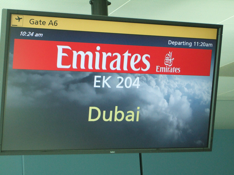 The second leg of our trip was NYC to Dubai.  We had a 3 hour layover at Dubai Airport.