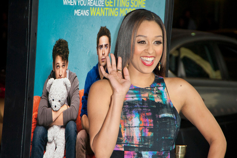 LOS ANGELES, CA - JANUARY 27: Actress Tia Mowry arrives at the premiere of Focus Features' 'That Awkward Moment' at Regal Cinemas L.A. Live on January 27, 2014 in Los Angeles, California. (Photo by Tom Sorensen/Moovieboy Pictures)