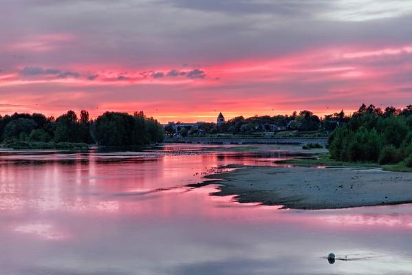 La Loire nocturne à Combleux