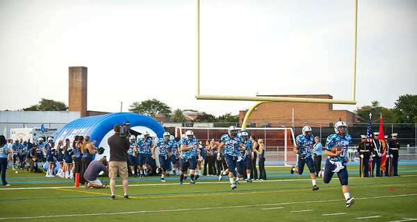 2012-09-14 Oceanside HS Football vs E. Meadow HS