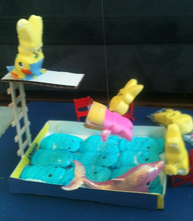 . High Dive into a Pool of Peeps Ruby Lucken, Age 6