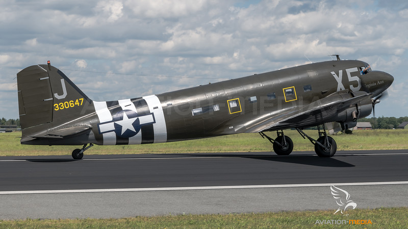 "Mission Bosten D-Day ""Virginia Ann"" / Douglas C-47A / N62CC 43-30647"
