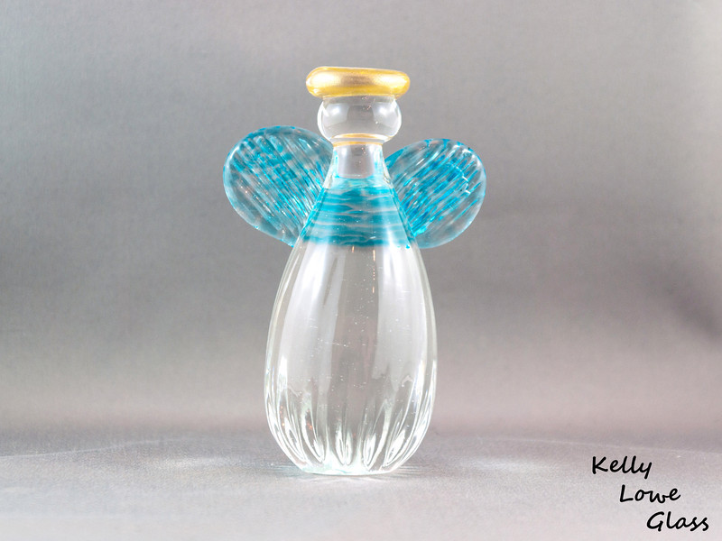Glass Angel - Large - Light Blue