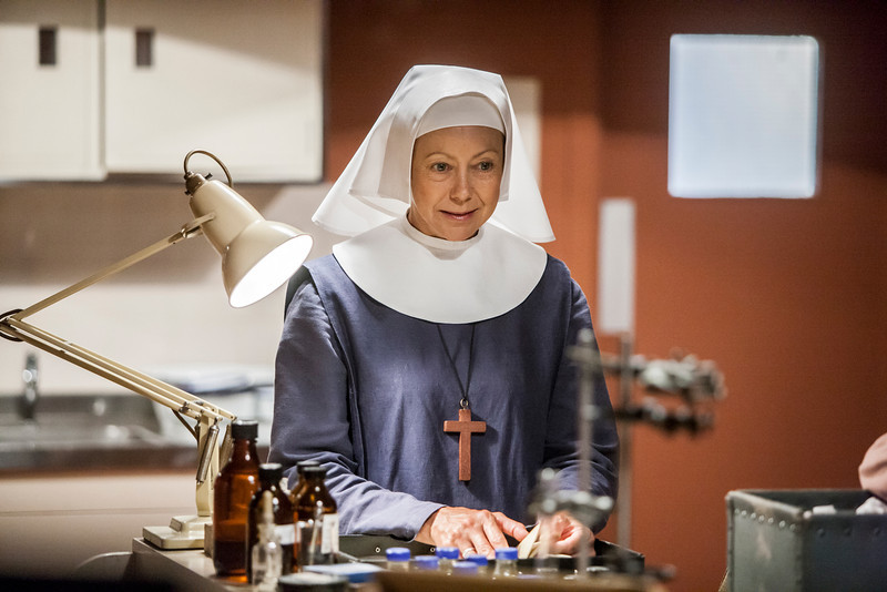 . Sister Julienne (Jenny Agutter) in clinical room (Photo by John Rogers)