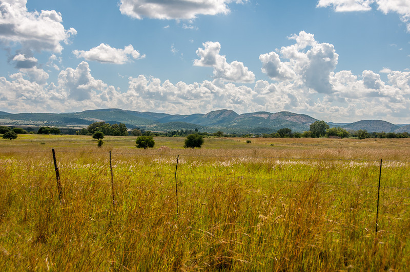 Landscape near Vredefort Dome in South Africa