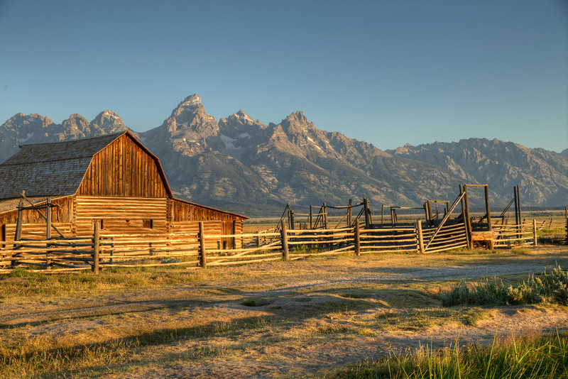 The Moulton Barn - Jackson Hole - Antelope Flats - Grand Teton National Park - Wyoming