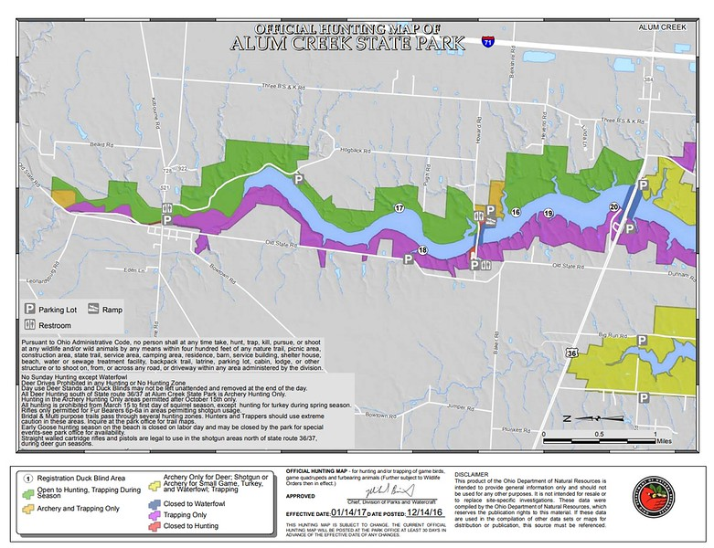 Alum Creek State Park (Hunting Map - North)