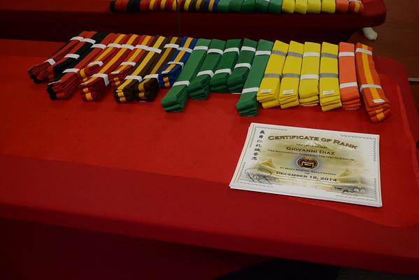 Color Belt Promotions 121814