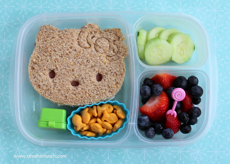 Hello Kitty sandwich in EasyLunchboxes bento lunch