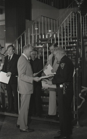 Police News Conference with Mayor Hudnut, Circa 1978, Img. 3