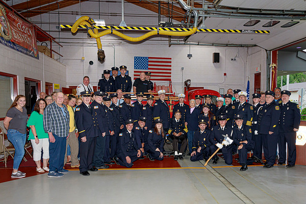 Beekman Fire Company honors Past Chief and current Commissioner  Ken Mallen for his 80 years of active service to the department.
