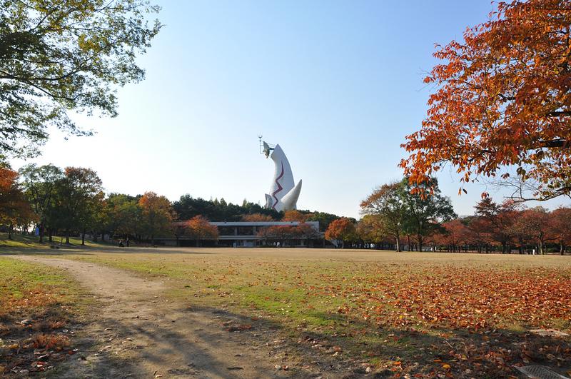 Fall foliage in Banpaku Memorial Park