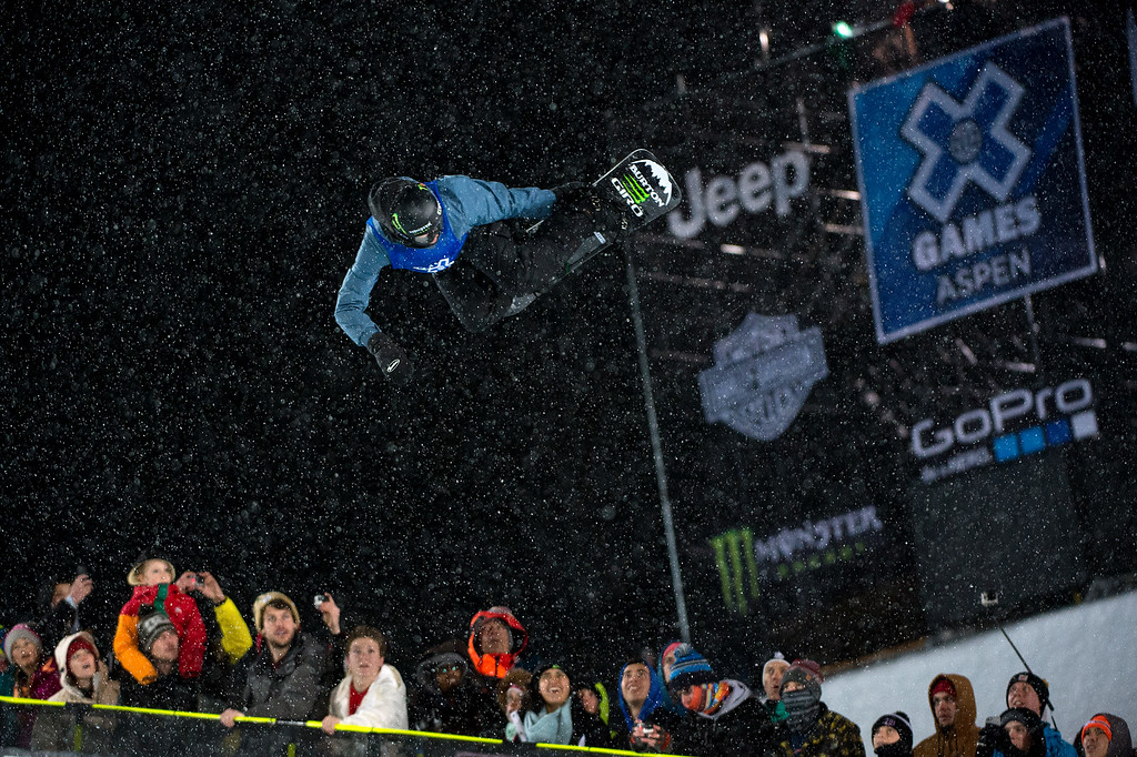 . Christian Haller #804 of Switzerland competes in his first run during the men\'s snowboard halfpipe at Winter X Games 2016 Aspen at Buttermilk Mountain on January 30, 2016, in Aspen, Colorado. Haller finished eighth after the event was called after one run because of heavy snow. (Photo by Daniel Petty/The Denver Post)