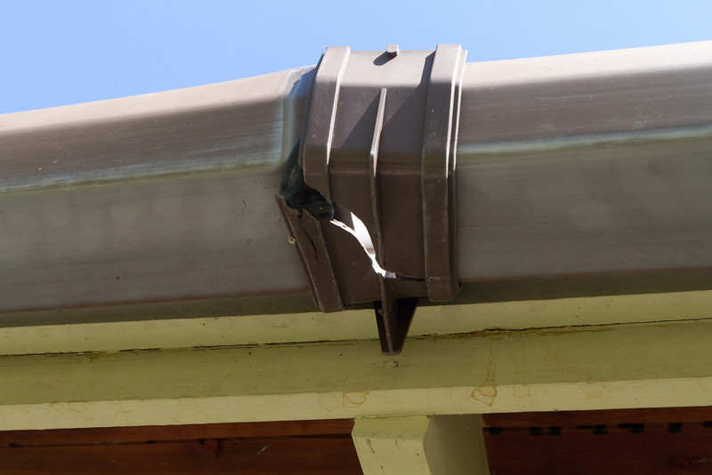 Winters are pretty hard on gutters.