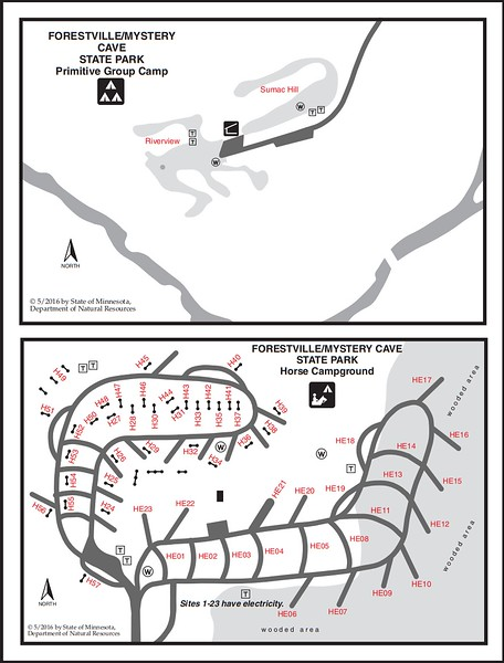 Forestville-Mystery Cave State Park (Equestrian & Primitive Group Campgrounds)