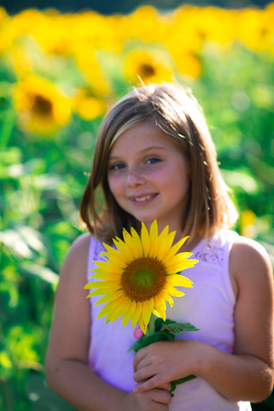 Janey's in the sunflowers