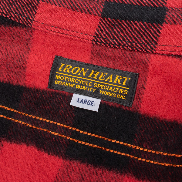 Ultra Heavy Flannel Buffalo Check Work Shirt - Red-Black-25535.jpg