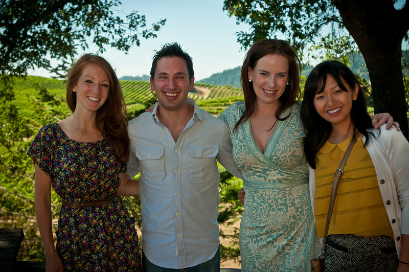 The group in front of the vineyards at Pride Moutnain Winery. We had an amazing tour and wonderful tasting here!