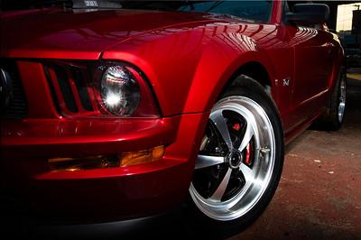 Mustang in abandoned garage