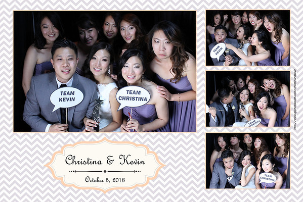 Christina and Kevin's Wedding Photo Booth Prints