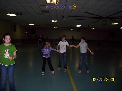 February 25- roller skating