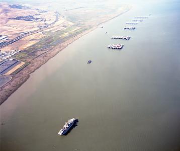 7-25-1988 Glomar Explorer and ships in Suisun Bay