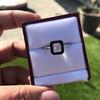 1.19ct Vintage Emerald Cut Diamond Onyx Ring, GIA E VS2 26