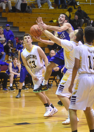 Drury basketball beats Hopkins Academy - 120818