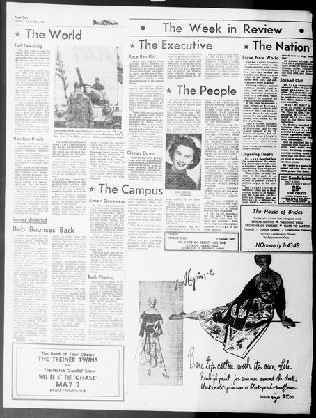 Daily Trojan, Vol. 40, No. 124, April 22, 1949