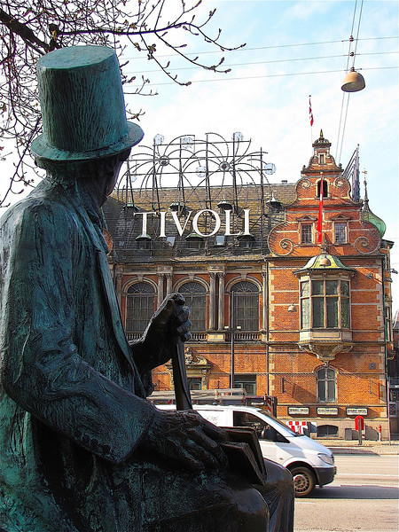 H.C.Andersen gazing on the Tivoli