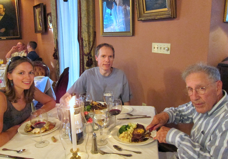 Dinner with Larry Lebin at the Herdic House, Williamsport PA. With Annie and FL. June 18 2011