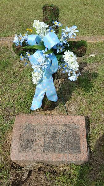 Timpson visit Waynes grave
