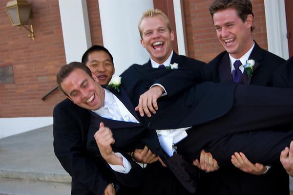 Scott & Kristin Wedding - Groom & Groomsmen 10-18-2008