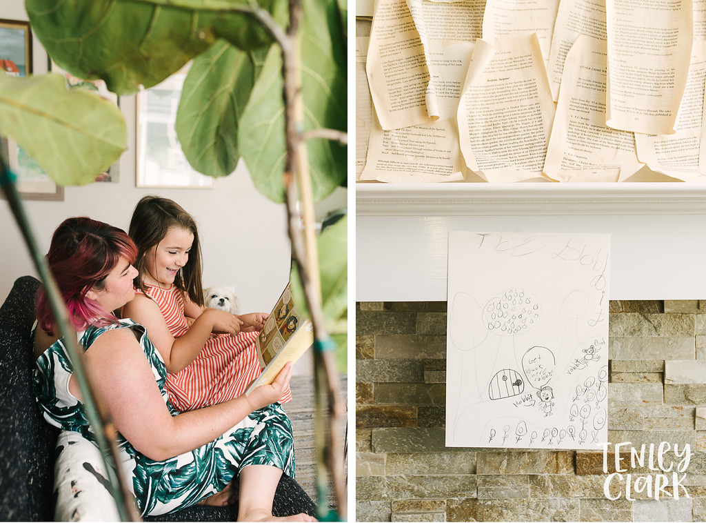 Lifestyle in home family photography session in Fremont, CA by Tenley Clark Photography.
