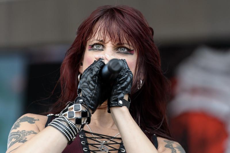Sister Sin performs at the Rockstar Energy Drink Mayhem Festival 2015 at Sleep Train Amphitheatre in Chula Vista - June 26, 2015