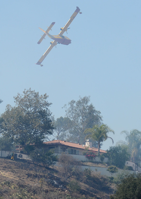 . Approximately 27 acres burned in a rugged area in the northern parts of La Verne Friday September 13, 2013. Some homes were evacuated north of Baseline Avenue but no homes were reported damaged. (Will Lester/Inland Valley Daily Bulletin)
