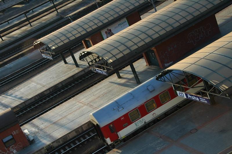 Trains at the Main Station - Prague, Czech Republic