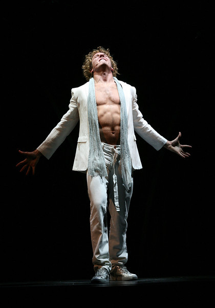 """HOLLYWOOD, CA - JUNE 17: Cast member actor Aleks Pevec performs as Tommy during the dress rehearsal of The Who's """"Tommy"""" held at the Richardo Montalban Theatre on June 17, 2008 in Hollywood, California.  (Photo by Ryan Miller/Capture Imaging)"""