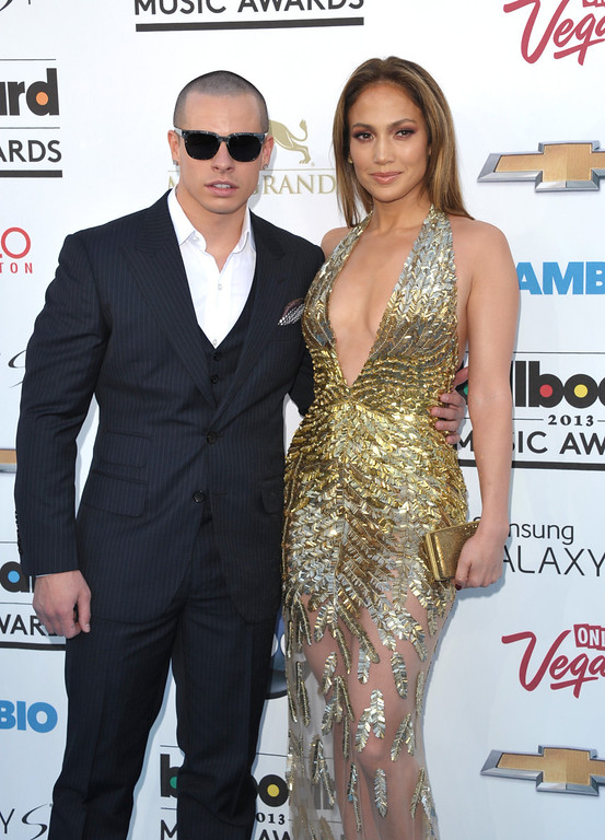 . Casper Smart, left, and Jennifer Lopez arrive at the Billboard Music Awards at the MGM Grand Garden Arena on Sunday, May 19, 2013 in Las Vegas. (Photo by John Shearer/Invision/AP)