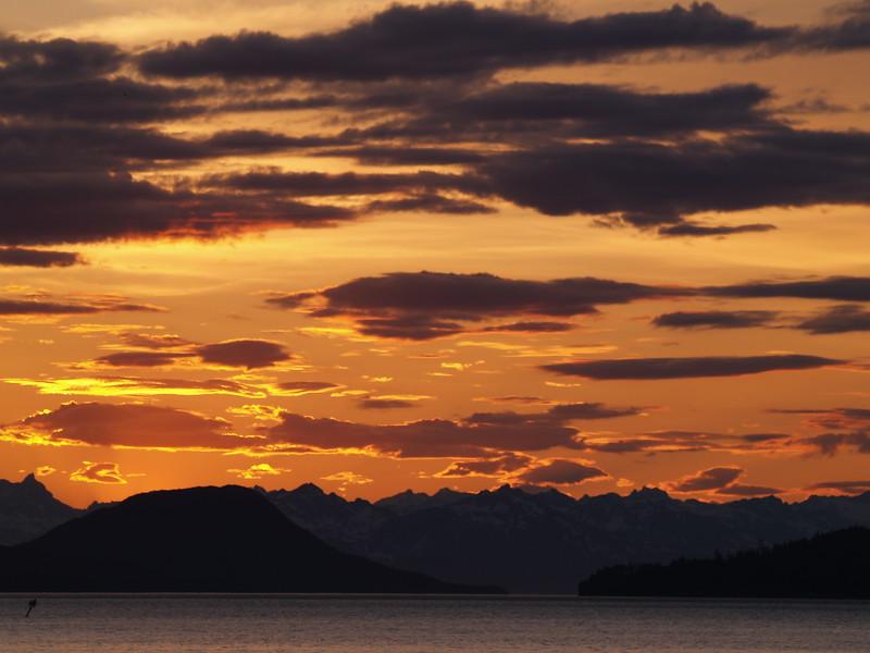 "June ""sunset"" over the Chilkoot Range"
